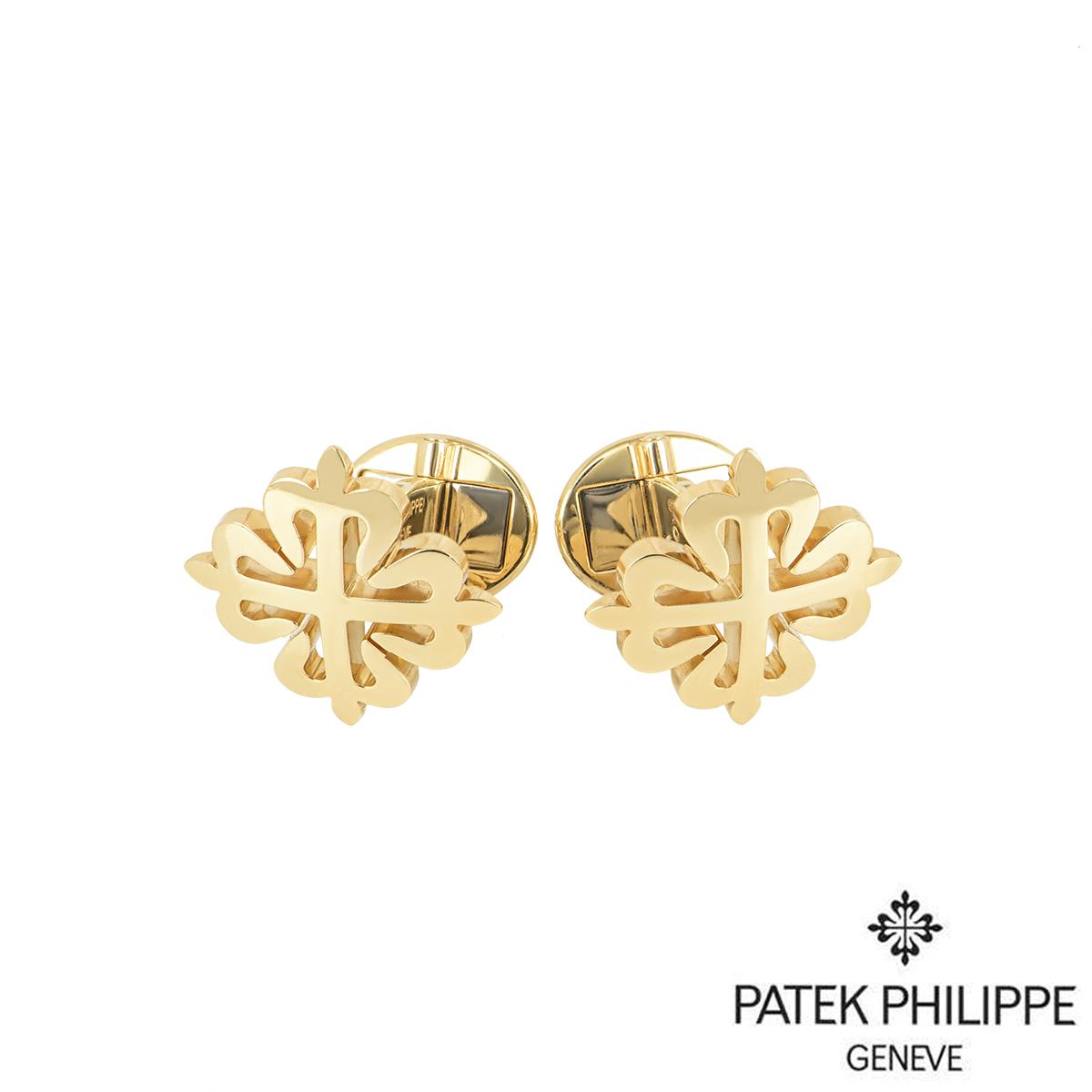 Patek Philippe Yellow Gold Calatrava Cross Cufflinks